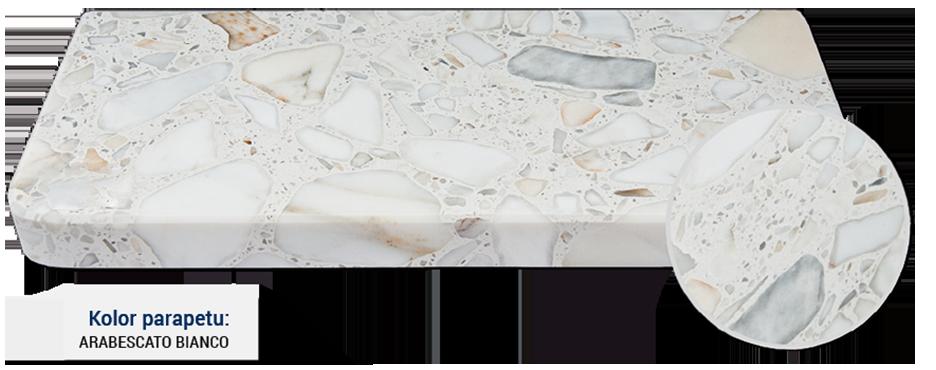 parapet w kolorze arabescato bianco