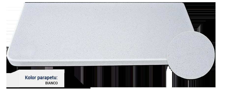 parapet w kolorze bianco