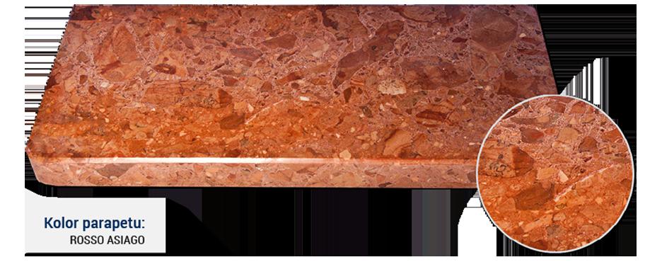 parapet w kolorze rosso asiago