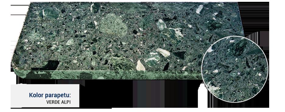 parapet w kolorze verde alpi